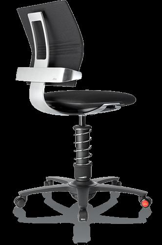 3Dee Active-Office-Chair mit swopper Technologie und Ergonomie Lehne -Bezug Mikrofaser oder Leder