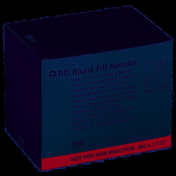 Aufziehkanüle BD Blunt Fill 1,2 x 40 mm, mit stumpfer Spitze