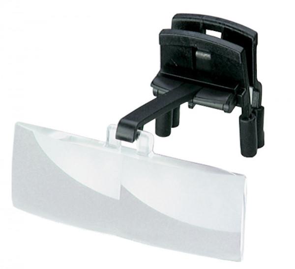 * Lupen-Clip (für Brillenträger) binokular 1,7x/ 2,5 dpt (Made in Germany)