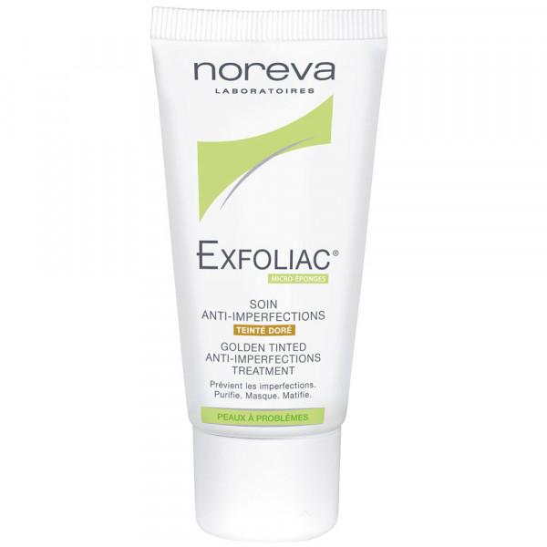noreva EXFOLIAC, Meso-post-abdeckende Creme, dunkel getönt=cream golden, 30 ml Tube